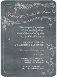 Valentines Day Invitations Amazing Chalkboard Chow Valentine's Day Party Invitations In Charcoal