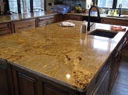 golden crystal granite with square polished edge custom