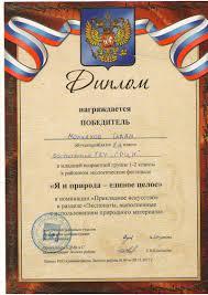 ГБУ Социально реабилитационный центр для несовершеннолетних  Диплом победителя Молчанова Ивана