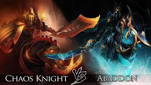dota 2 abaddon vs chaos knight one click battle youtube