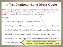Apa Quote Citation Unique Apa Format Citation Direct Quote In Text Apa Format Direct Quote