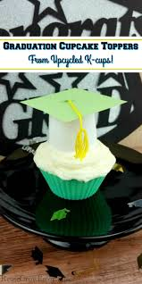 Easy Diy Graduation Cupcake Toppers Made From Upcycled K Cups