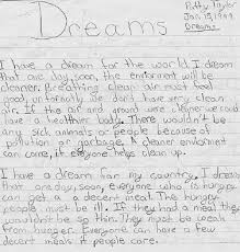 i have a dream sample written rough draft