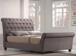Full Upholstered Bed Frame Bed Ideas Upholstered Tufted King Bed In Grey For Elegant