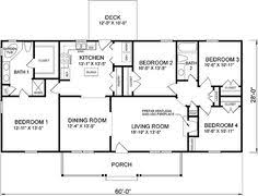 Simple floor plans  Ranch style and Ranch home plans on Pinterest
