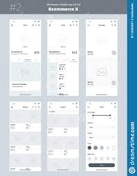 Ui Ux Design Wireframes Wireframe Kit For Mobile Phone Mobile App Ui Ux Design