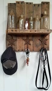 coat key rack unique ideas on holder hook handmade rustic pallet shelf  combo racks