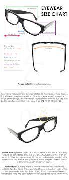 Eyewear Size Chart Handmade Eyeglasses And Sunglasses