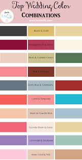 Colors That Match Turquoise Top Wedding Color Combinations Wedding Colour Combinations