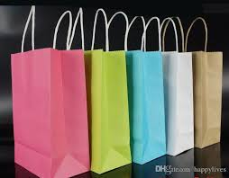 Paper treat bags with handles