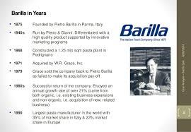 oscm barilla spa group i case analysis barilla spa 4 barilla
