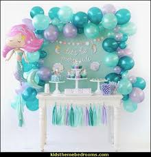 mermaid party balloons table decorations Decorating theme bedrooms - Maries Manor:
