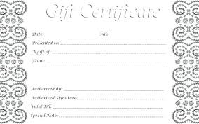 Gift Certificate Template Mac Free Download Page 1 Word