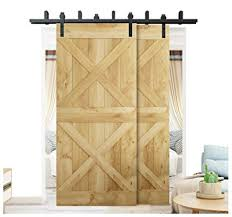 diyhd 5ft byp sliding barn wood door hardware interior sliding door black rustic sliding track kit