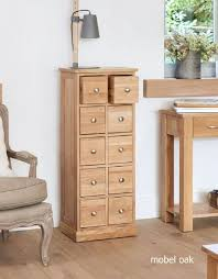 baumhaus mobel solid oak extra. Baumhaus Mobel Solid Oak Multi-Drawer DVD / CD Storage Chest . Extra H