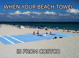 when your beach towel is from costco