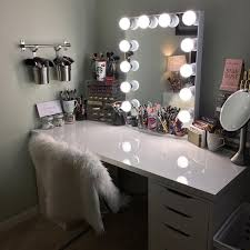 Makeup Table With Lights Makeup Vanity Table With Lights Foter Within  Vanities For Bedroom
