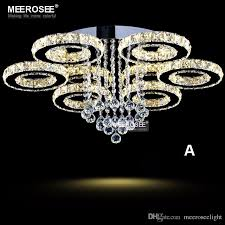 modern led crystal chandelier ring circle re ceiling light lighting crystal light fixture cristal re flush mounted lamp home bedroom chandeliers
