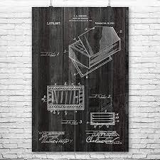 "Amazon.com: Humidor Cigar Box Poster Print, Smoke Shop, Smoker Gifts,  Tobacconist, Head Shop, Aficionado Gift, Smoking Room Blueprint (12"" x  18""): Posters & Prints"