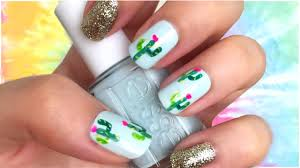 Cactus Print Nail Art! TUMBLR Nails + Coachella Festival Nail Art ...