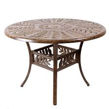 61cm garden patio table cinnamon leaf