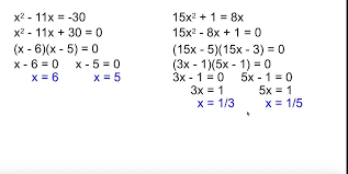 solving quadratic equation factoring fine alg 2 4 3 equations