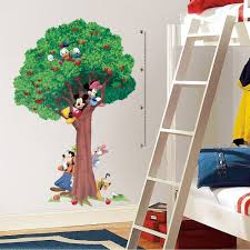 Peel And Stick Wall Decor Disney Mickey Mouse 60034 Tree Growth Chart Wall Decals Vinyl