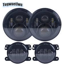 Jk Led Lights Us 56 99 4x4 Levels Led Lights 7inch Led Round Headlight For Lada Niva Suzuki Samurai 4inch Led Fog Light For Jeep Wrangler Jk Tj Lj Cj In Car Light