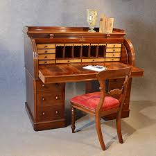 antique fine victorian writing bureau large english cylinder roll top desk c1870