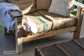 burlap coffee bean sack upholstery a cool pallet wood chair anyone can make in a