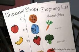 The Activity Mom - Free Printable Shopping List For Kids