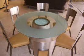 round smoked glass dining table