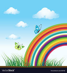 Rainbow Nature Butterfly Royalty Free Vector Image