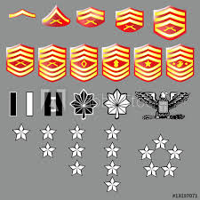 Marine Corps Rank Insignia For Officers And Enlisted