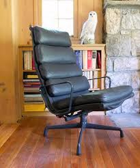 eames soft pad lounge chair. Eames Leather Recliner Chair \u0026 Ottoman Soft Pad Lounge D