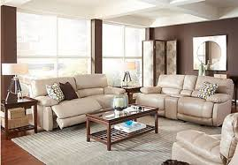 contemporary leather living room furniture. Cindy Crawford Home Auburn Hills Taupe Leather 7 Pc Reclining Living Room Contemporary Furniture R