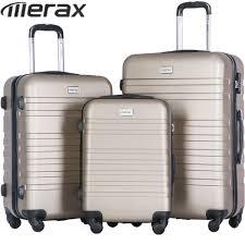 Light Luggage Sets Merax Suitcase 3pcs Luggage Sets Lightweight Women Men