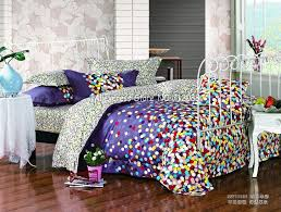 brand new colorful polka dots pattern purple background queen ... & brand new colorful polka dots pattern purple background queen cotton covers  bedding comforter quilt/duvet covers sets 4pc-in Bedding Sets from Home &  Garden ... Adamdwight.com