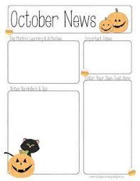 october newsletter ideas october newsletter template for all grades newsletter templates