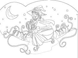 Witch Coloring Pages Printables Page Easy Printable For Children