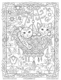 Small Picture 459 best Cats Dogs Coloring Pages for Adults images on Pinterest
