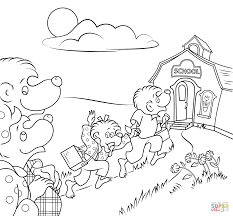 Small Picture Berenstain Bears Coloring Pages Berenstain Bears Go To School