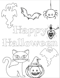 At top, printable skeleton halloween coloring page via coloring pages 2015. 5 Free Printable Halloween Coloring Pages For Kids