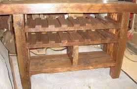 Wooden Rustic Wine Rack with Vintage Look Invisibleinkradio Home Decor