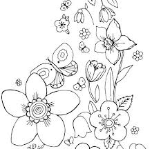 Printable Coloring Pages Of Flowers And Butterflies Flowers Printable Coloring Sheets Queenandfatchef Com