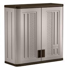 suncast 30 in x 30 25 in 1 shelf resin wall storage cabinet in