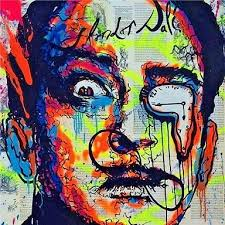 2019 Alec Monopoly <b>Urban</b> Art Oil Painting Salvador Dali Hand ...