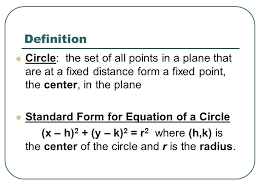 write the given equation of a circle in standard form and give