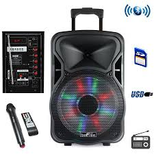 speakers bluetooth walmart. befree sound 12 inch woofer portable bluetooth powered pa tailgate party rechargeable speaker with illuminating lights speakers walmart