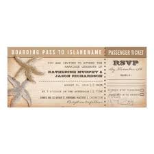 Boarding Pass Wedding Tickets With Rsvp Invitation Card